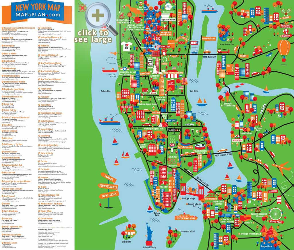 Maps Of New York Top Tourist Attractions - Free, Printable inside Map Of New York Attractions Printable