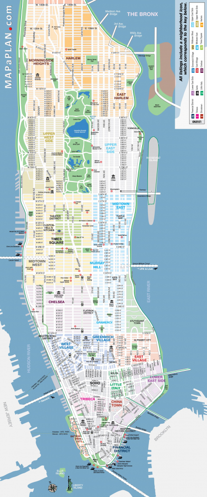 Maps Of New York Top Tourist Attractions - Free, Printable with Free Printable Aerial Maps