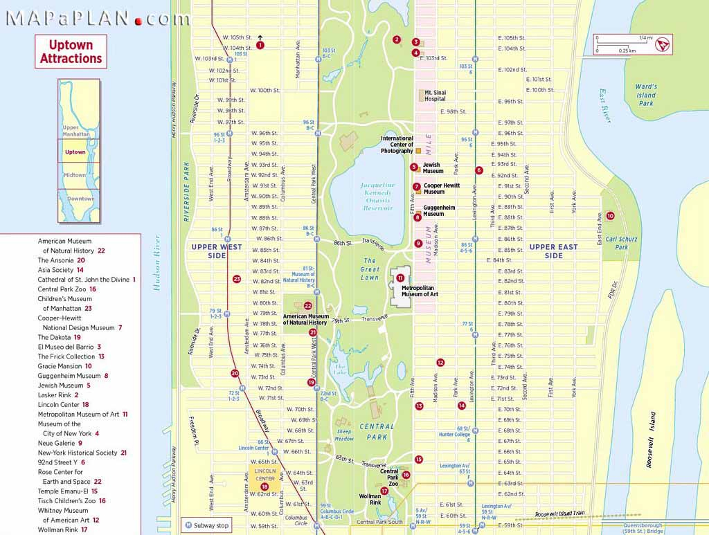 Maps Of New York Top Tourist Attractions - Free, Printable within Map Of Midtown Manhattan Printable