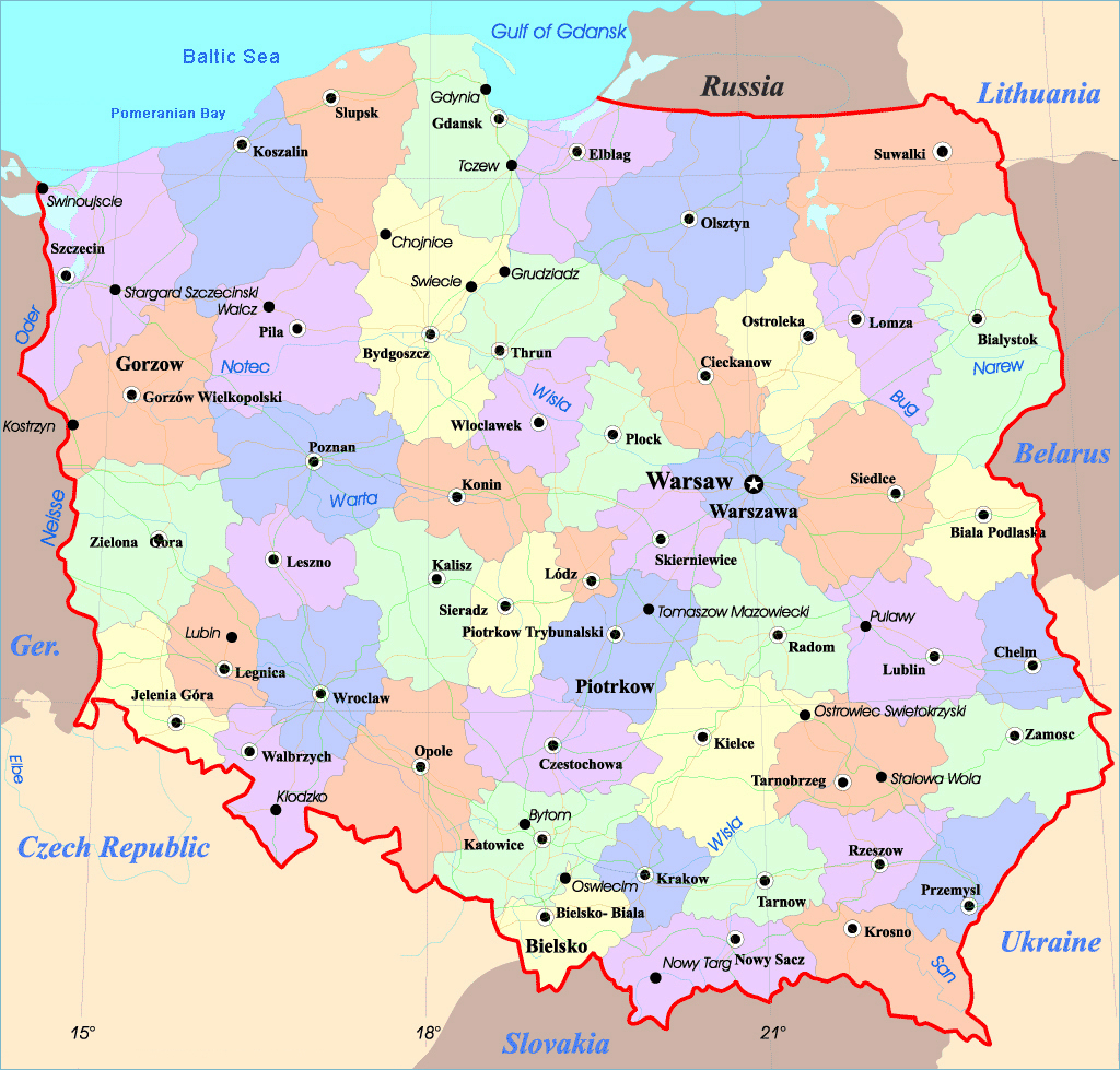 Maps Of Poland | Detailed Map Of Poland In English | Tourist Map Of intended for Printable Map Of Poland