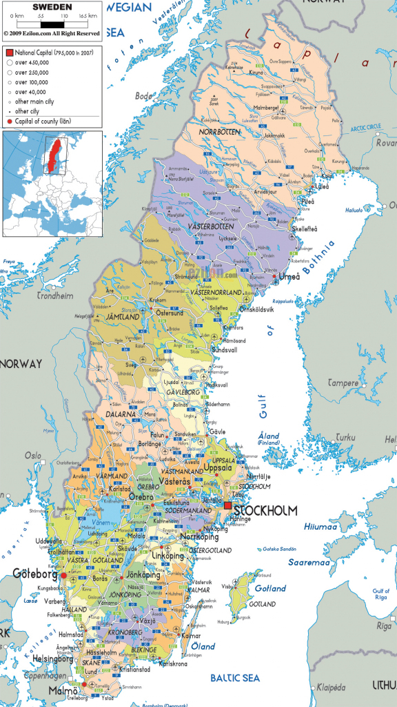 Maps Of Sweden | Detailed Map Of Sweden In English | Tourist Map Of within Printable Map Of Sweden