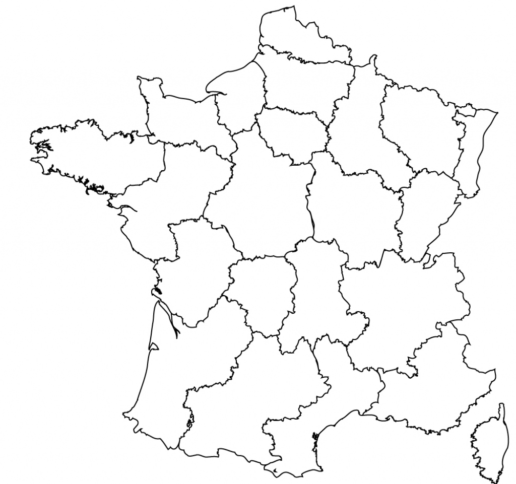 Maps Of The Regions Of France inside Map Of France Outline Printable