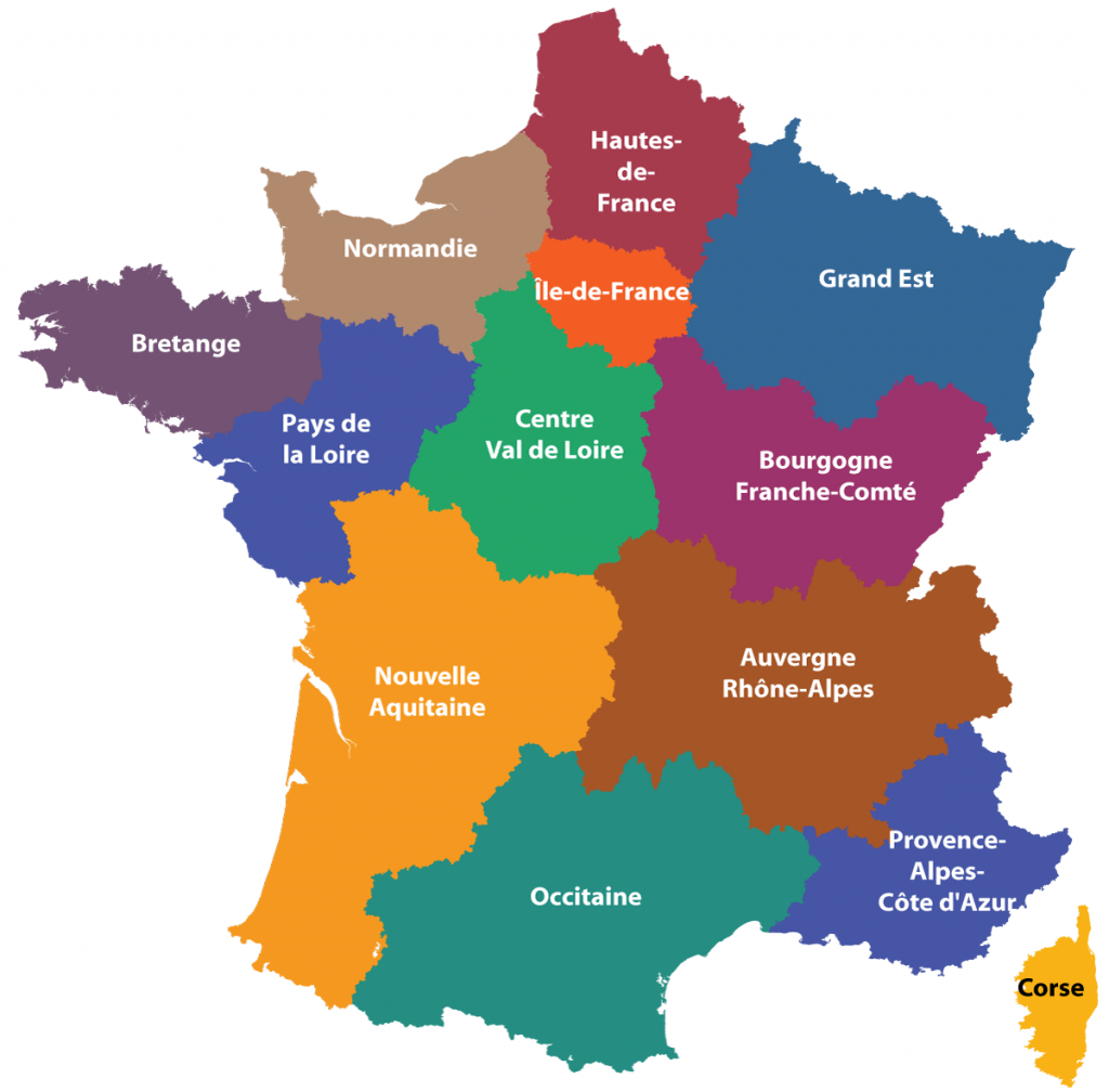 Maps Of The Regions Of France intended for Printable Map Of France Regions