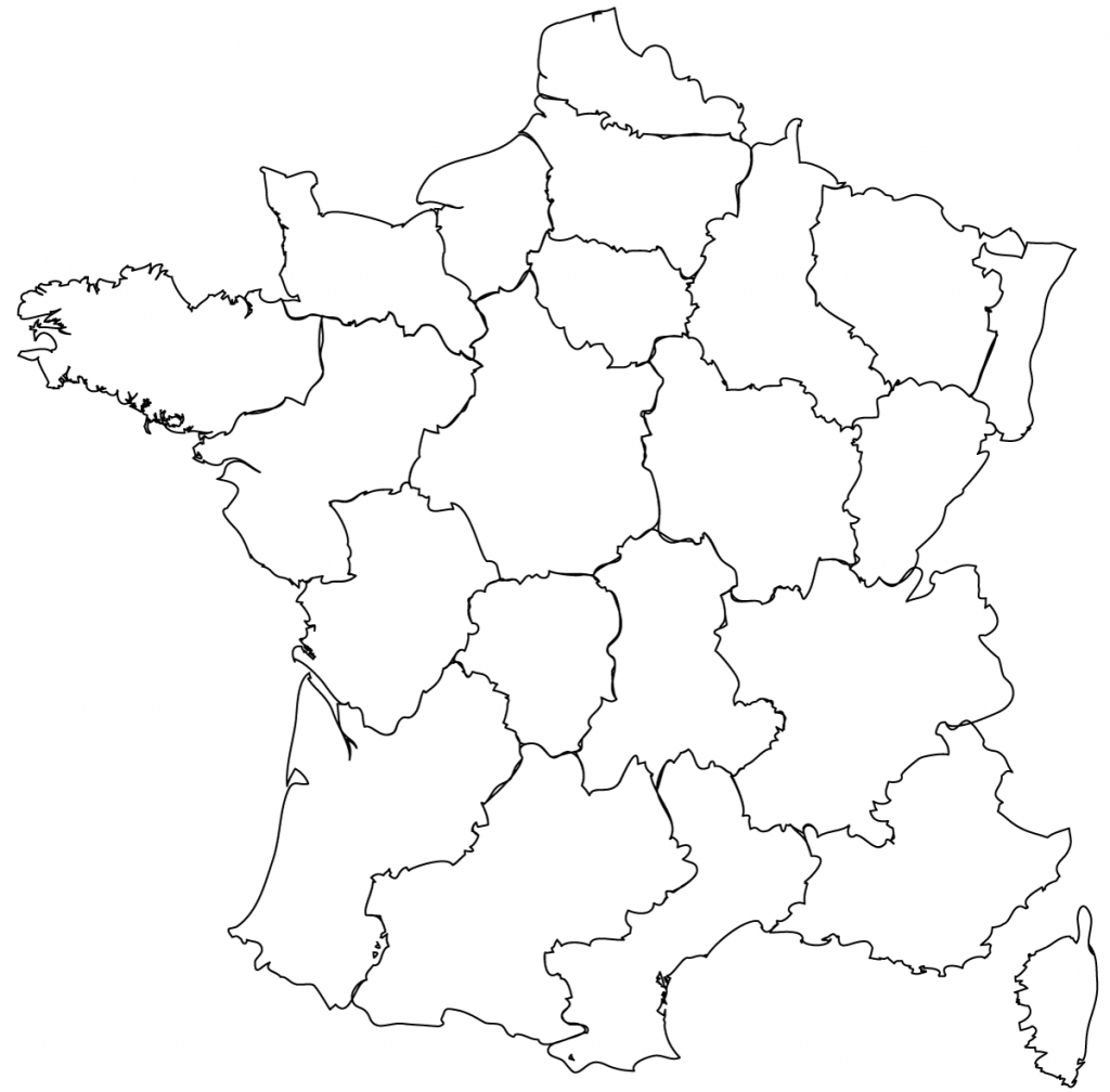Maps Of The Regions Of France within Map Of France Outline Printable