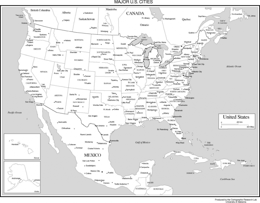 Maps Of The United States inside Us Map With Scale Printable