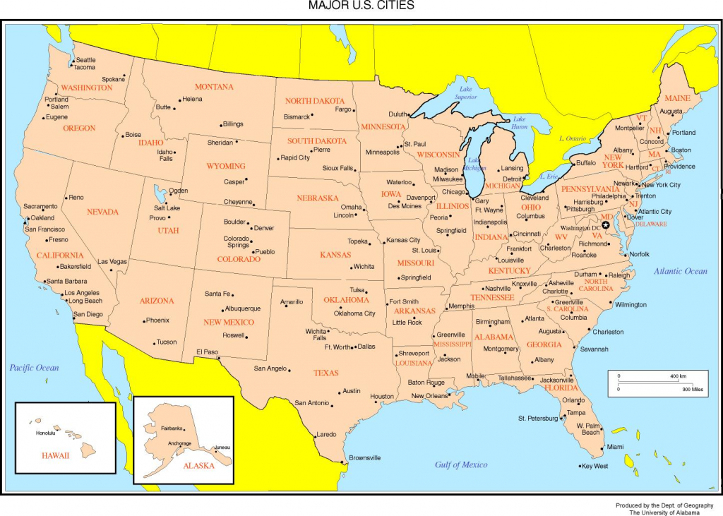 Maps Of The United States intended for Printable Us Map With Major Cities