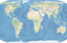 Topographic World Map Printable