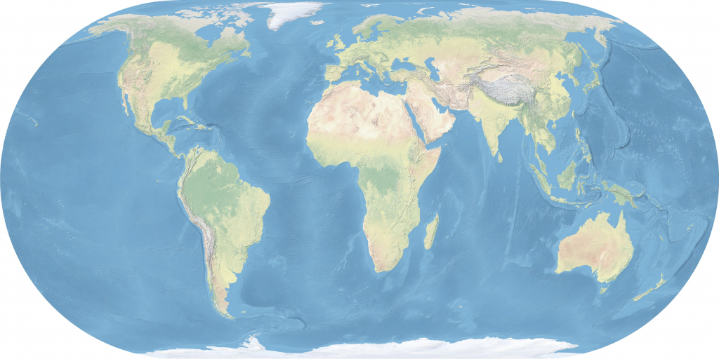 Maps Of The World - Wikimedia Commons inside Topographic World Map Printable