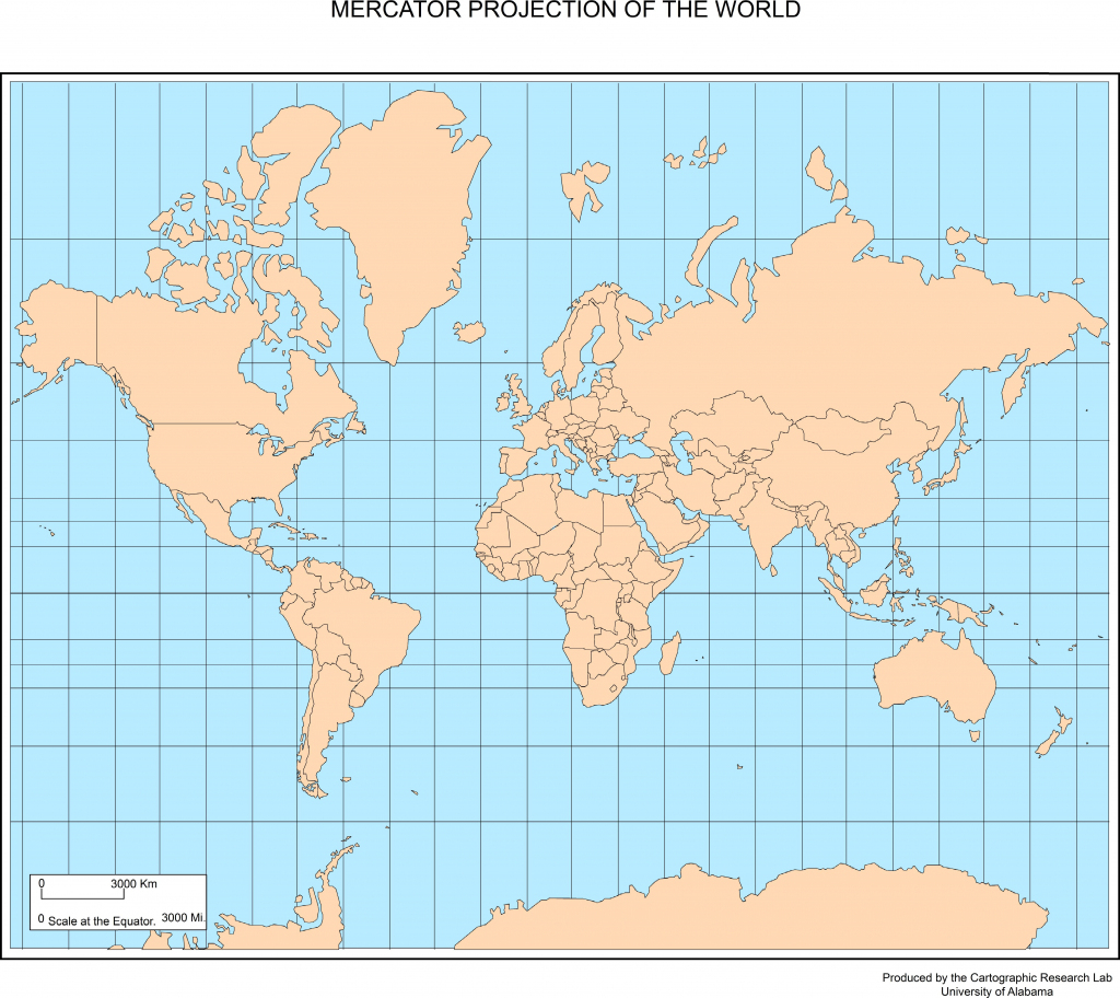 Maps Of The World within World Map Mercator Projection Printable