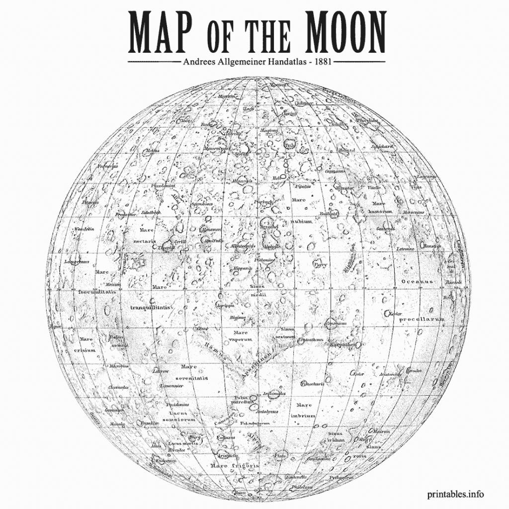 Maps/ On Printables with Printable Moon Map