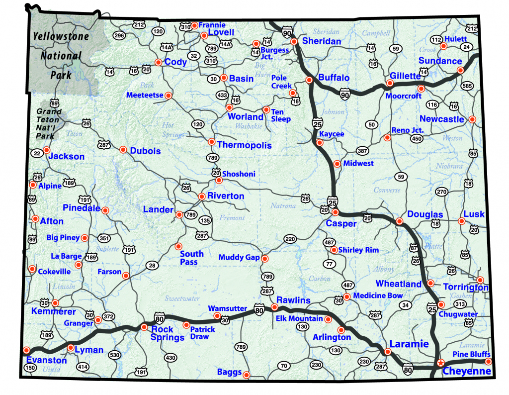 Maps regarding Printable Map Of Wyoming