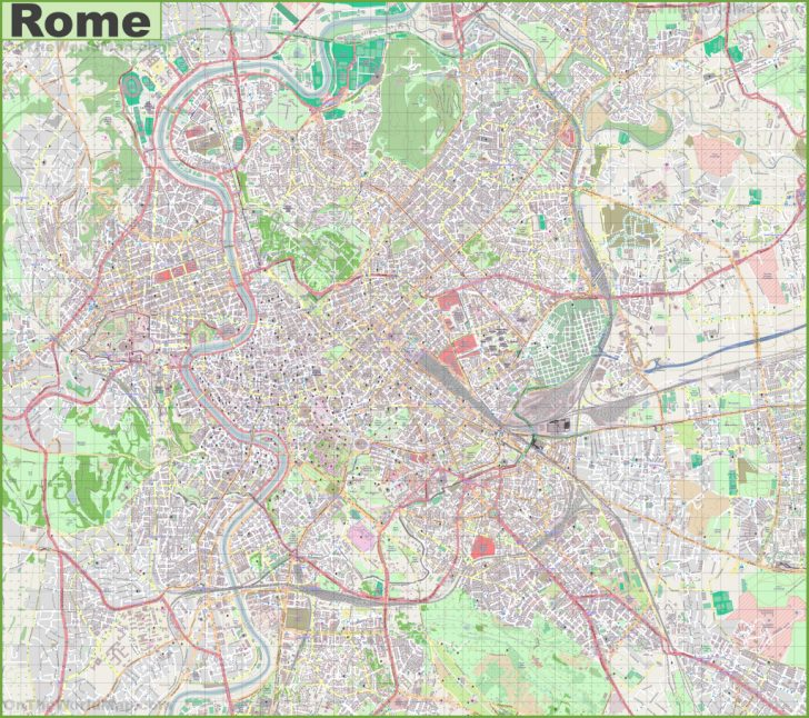 Street Map Of Rome Italy Printable