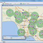 Maptitude 2018 Rings, Radius, Radii, Maps With Demographics   Youtube Pertaining To Printable Radius Map