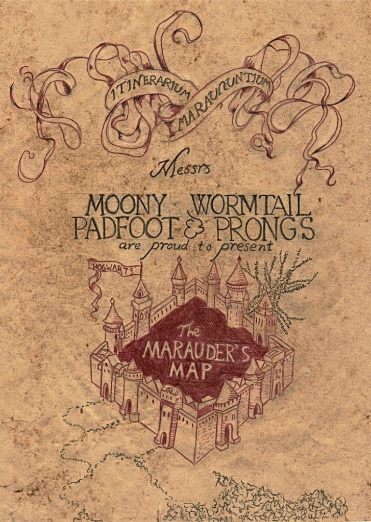 Marauder's Map | Harry Potter | Marauders Map, Harry Potter inside The Marauders Map Printable