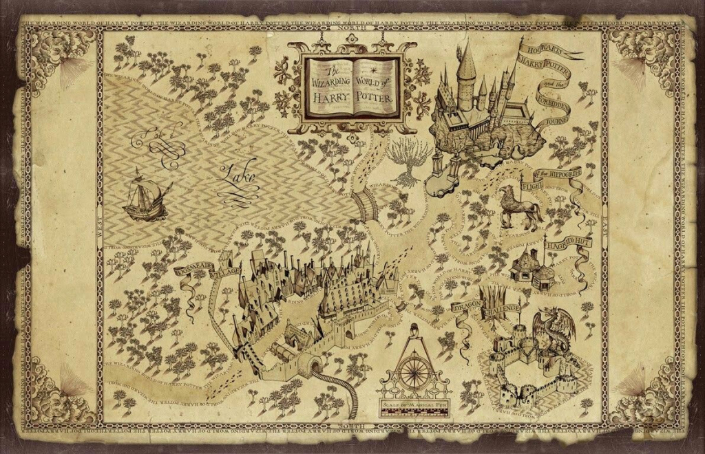 Marauders Map Printable | Printable Map within Free Printable Marauders Map