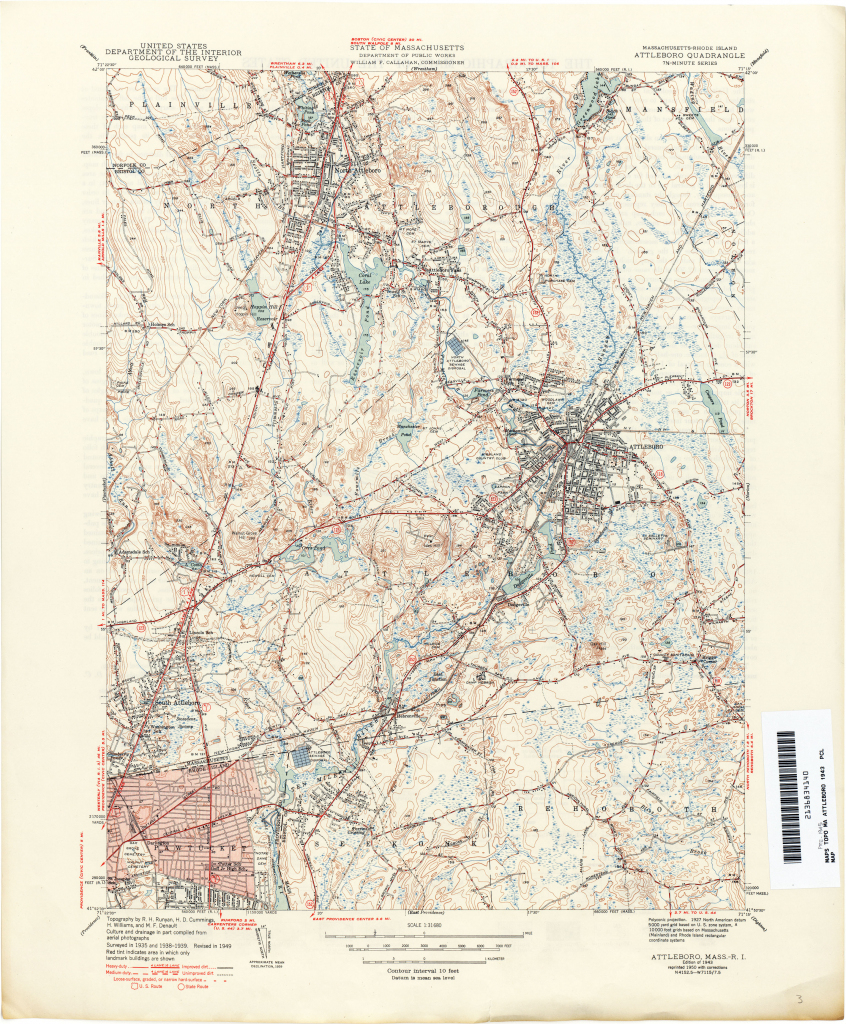 Massachusetts Historical Topographic Maps - Perry-Castañeda Map regarding Printable Map Of Falmouth Ma