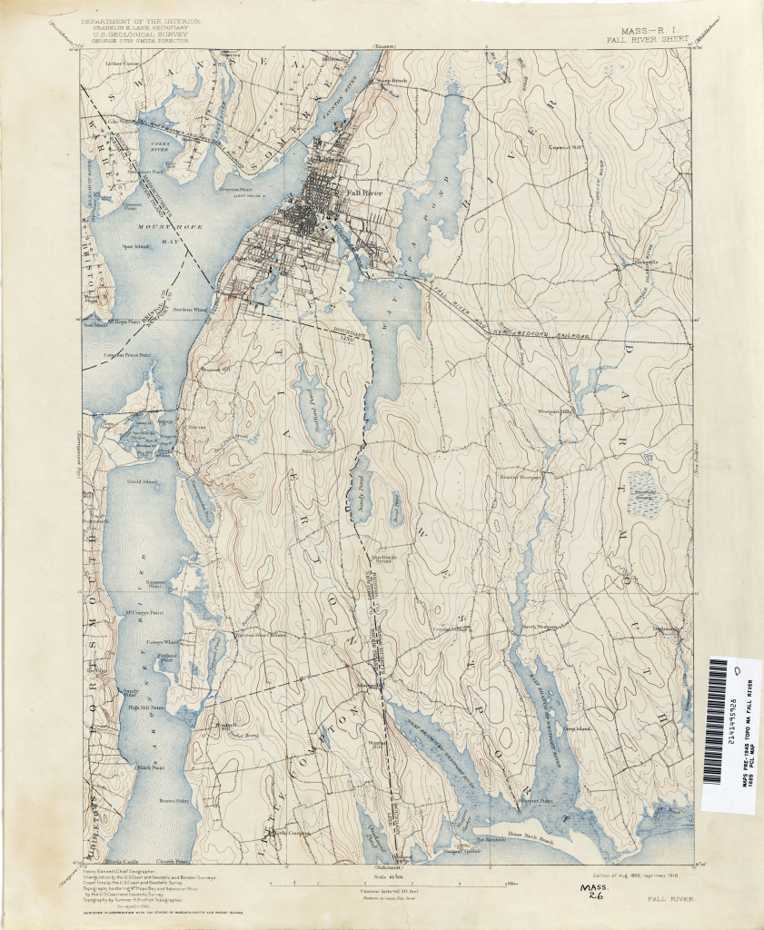Massachusetts Historical Topographic Maps - Perry-Castañeda Map with Printable Map Of Falmouth Ma