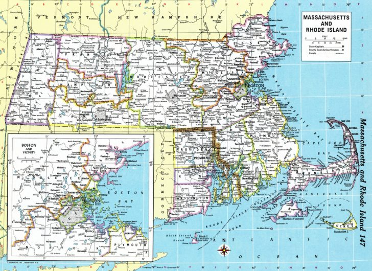 Printable Map Of Rhode Island