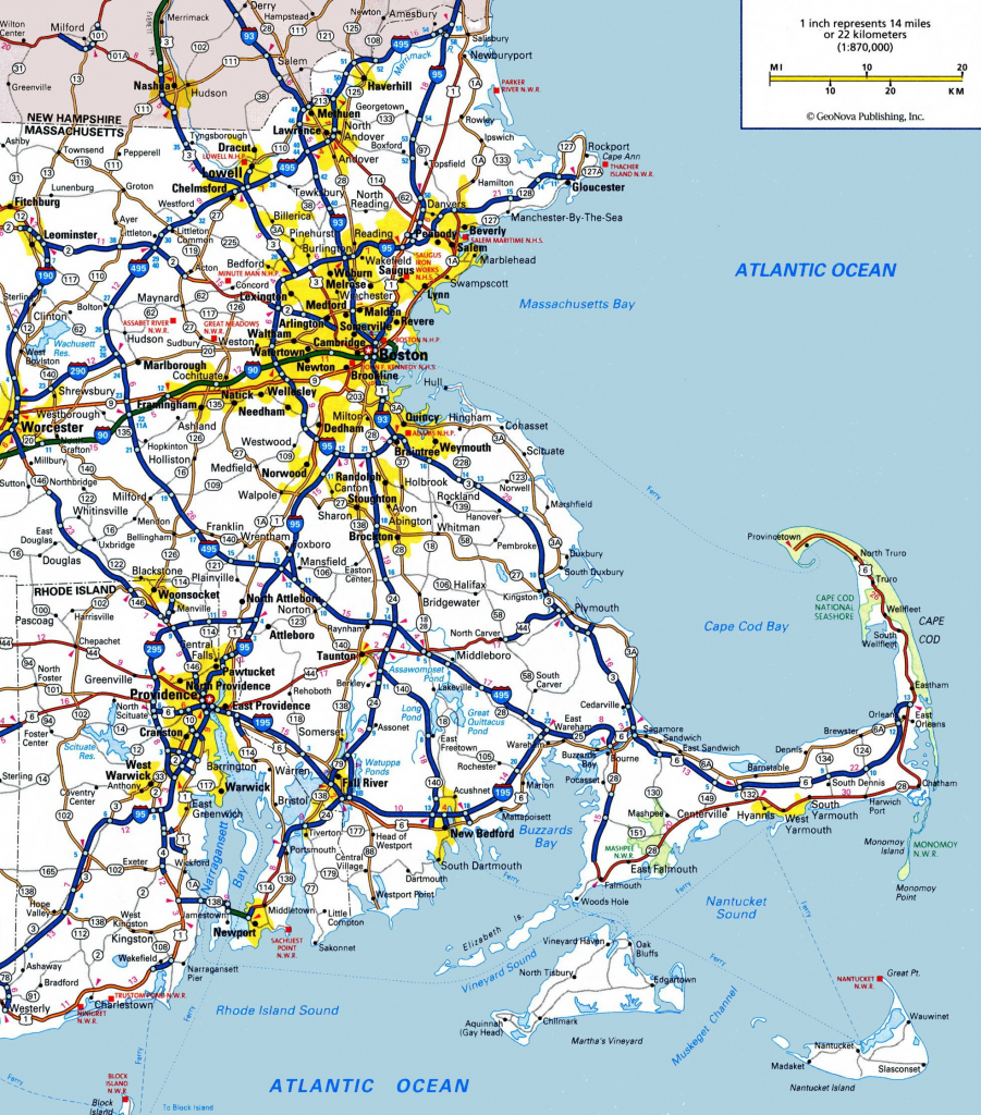 Machusetts State Maps | Usa | Maps Of Machusetts (Ma) for ... on