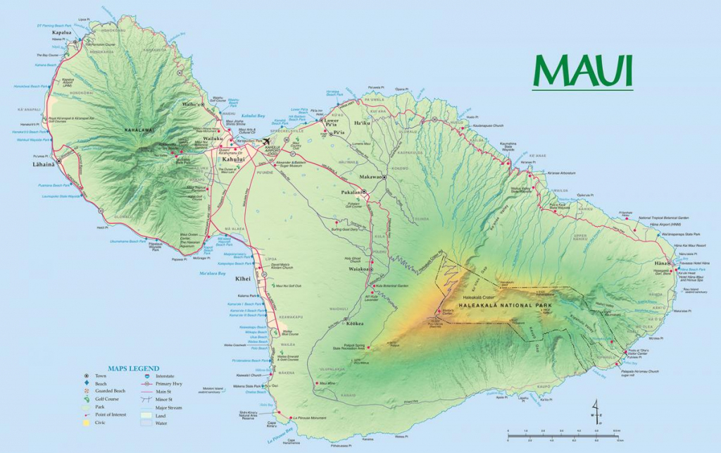 Maui Maps | Go Hawaii for Maui Road Map Printable