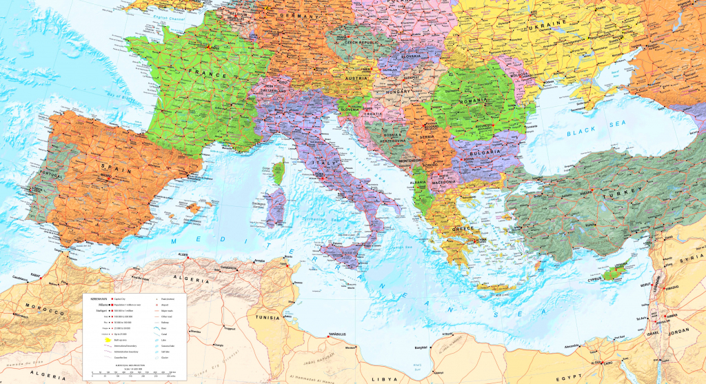 Mediterranean Sea Maps | Maps Of Mediterranean Sea in Printable Map Of The Mediterranean Sea Area