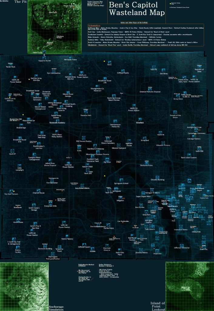 Mega Fallout 3 Map At Fallout3 Nexus - Mods And Community pertaining to Fallout 3 Printable Map