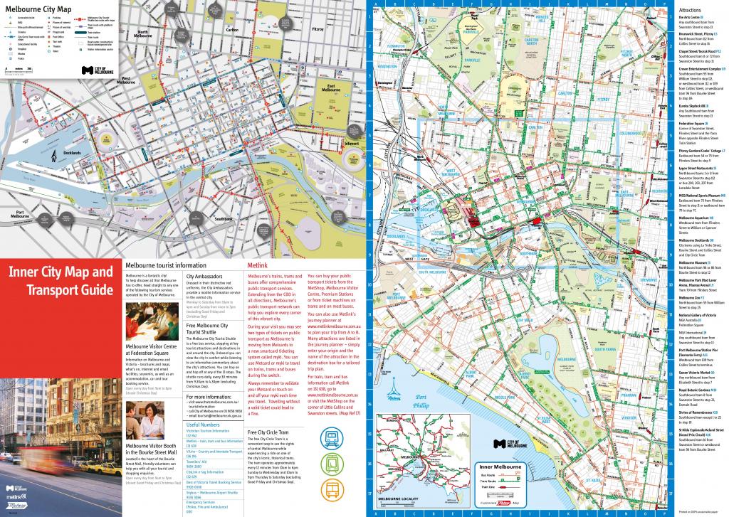 Melbourne Tourist Map inside Melbourne Tourist Map Printable