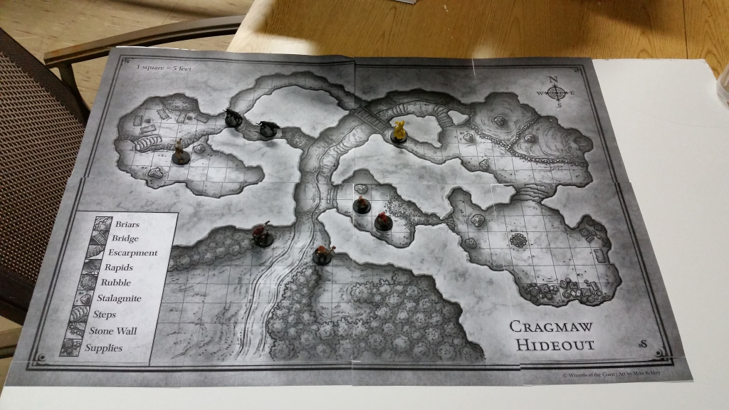 Meph's Gaming Prep | Dm's Craft for Cragmaw Hideout Printable Map