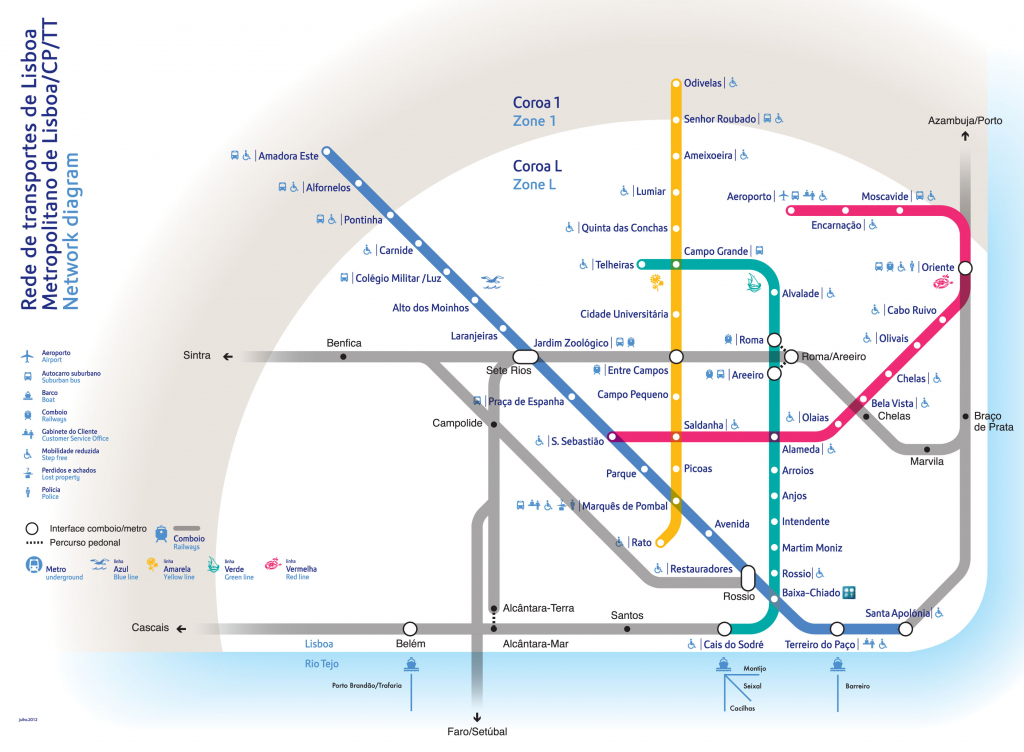 Metro Map Lisbon And Travel Information | Download Free Metro Map Lisbon regarding Lisbon Metro Map Printable