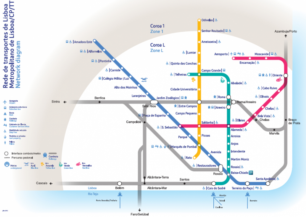 Metro Map Lisbon And Travel Information | Download Free Metro Map Lisbon throughout Lisbon Metro Map Printable