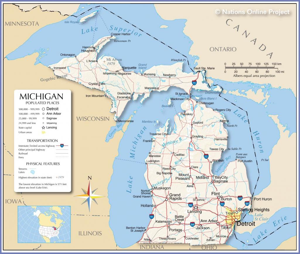 Michigan River Map | D1Softball for Michigan River Map Printable