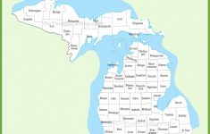Printable Map Of Michigan