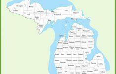 Printable Map Of Michigan