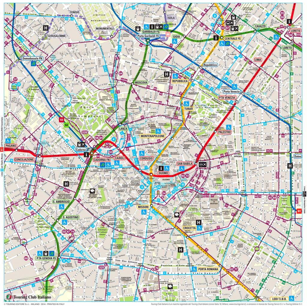 Milan Maps | Italy | Maps Of Milan (Milano) with regard to Printable Map Of Milan