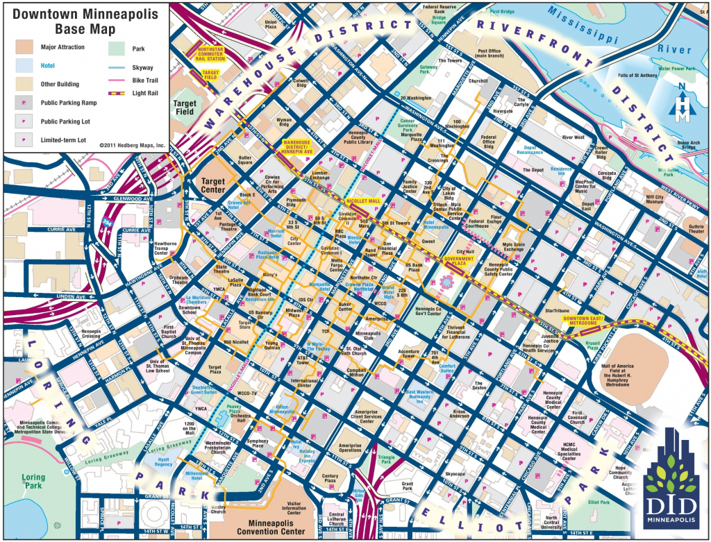 Minneapolis Skyway Map And Travel Information | Download Free within Minneapolis Skyway Map Printable