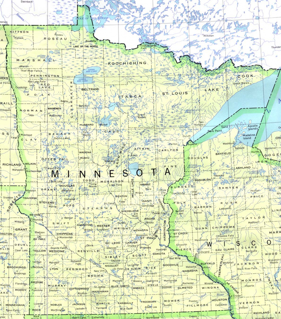 Minnesota Maps - Perry-Castañeda Map Collection - Ut Library Online throughout Printable Map Of Minnesota