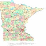 Minnesota Printable Map Pertaining To Printable Map Of Minnesota