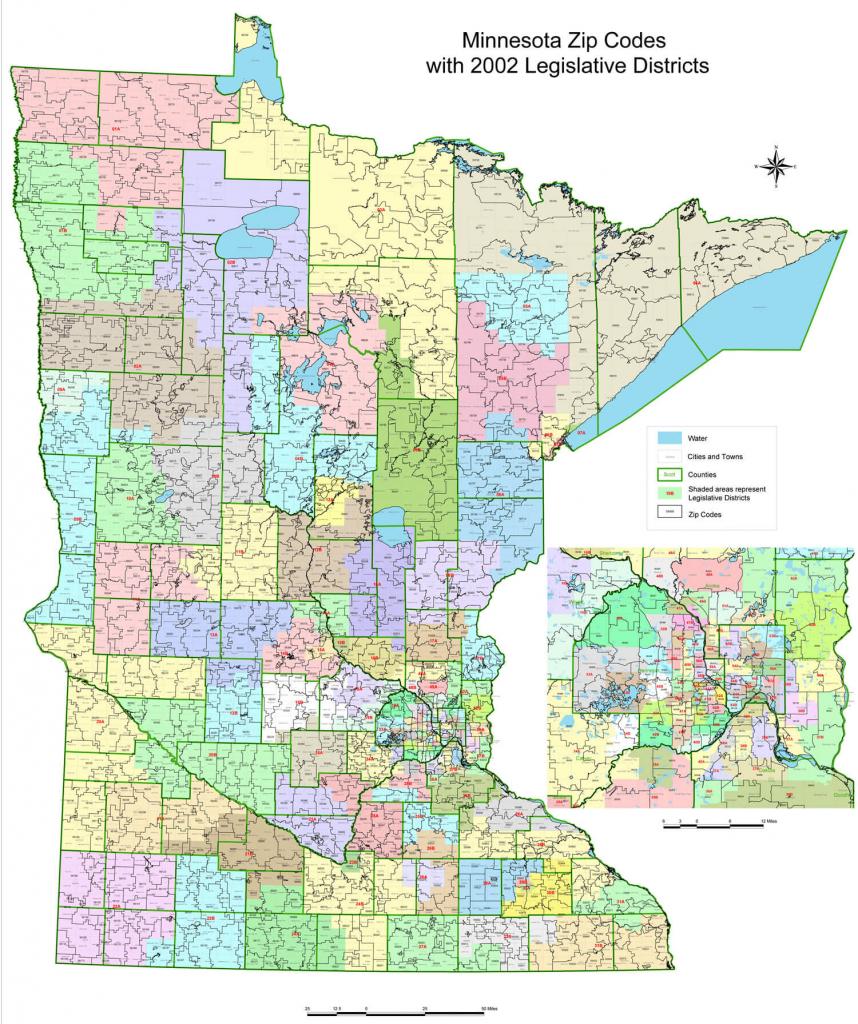 Minnesota Zip Code Map Printable with regard to Printable Map Of Minnesota