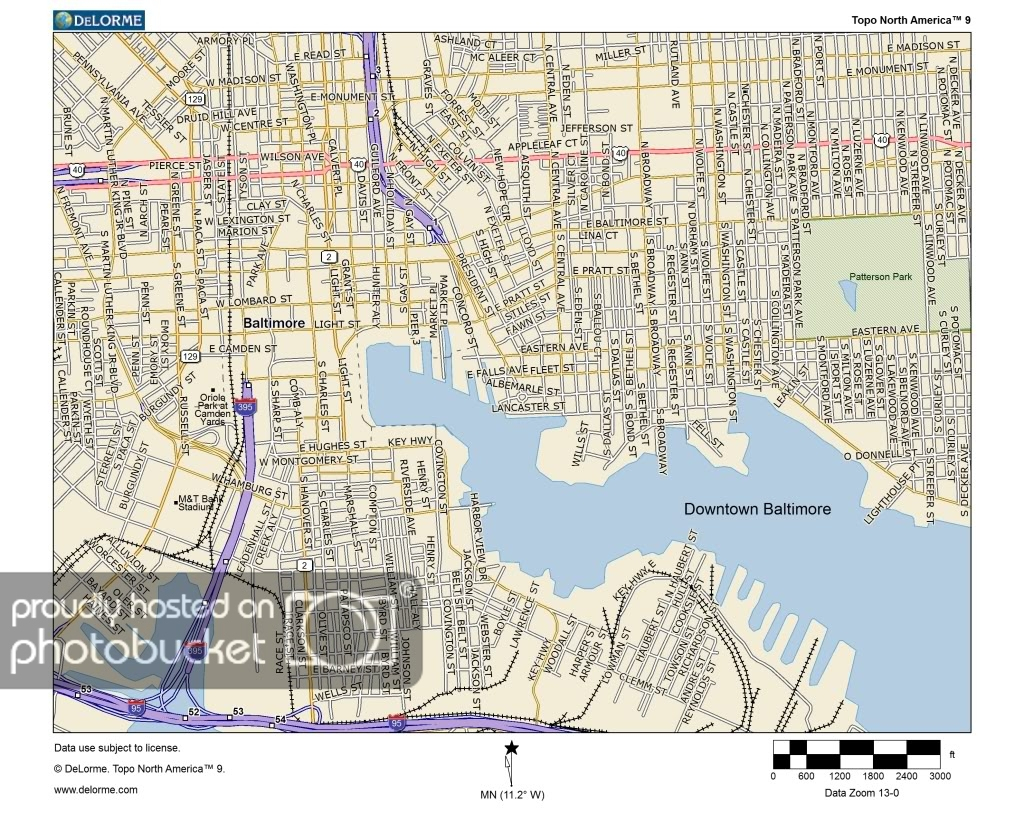 Miscellaneous Posts: Downtown Baltimore And Inner Harbor Map pertaining to Printable Map Of Baltimore