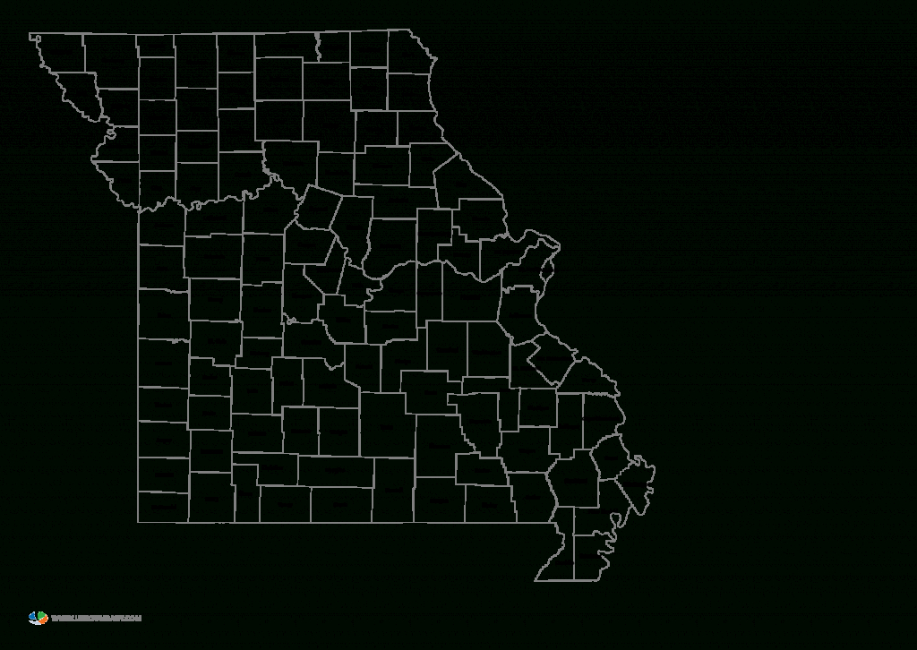 Missouri State Map With Counties And Travel Information | Download intended for Printable Blank Map Of Missouri