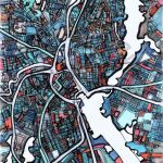 Modern Map Art – Abstract Map Print Of Providence Ri. Wall Art Regarding Printable Map Of Providence Ri