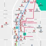 Monorail, Tram & Strip Map | Las Vegas Maps | Vegasjourney For Printable Las Vegas Strip Map 2016