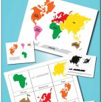 Montessori Continents 3 Part Cards And World Map Printables | After Throughout Montessori World Map Free Printable