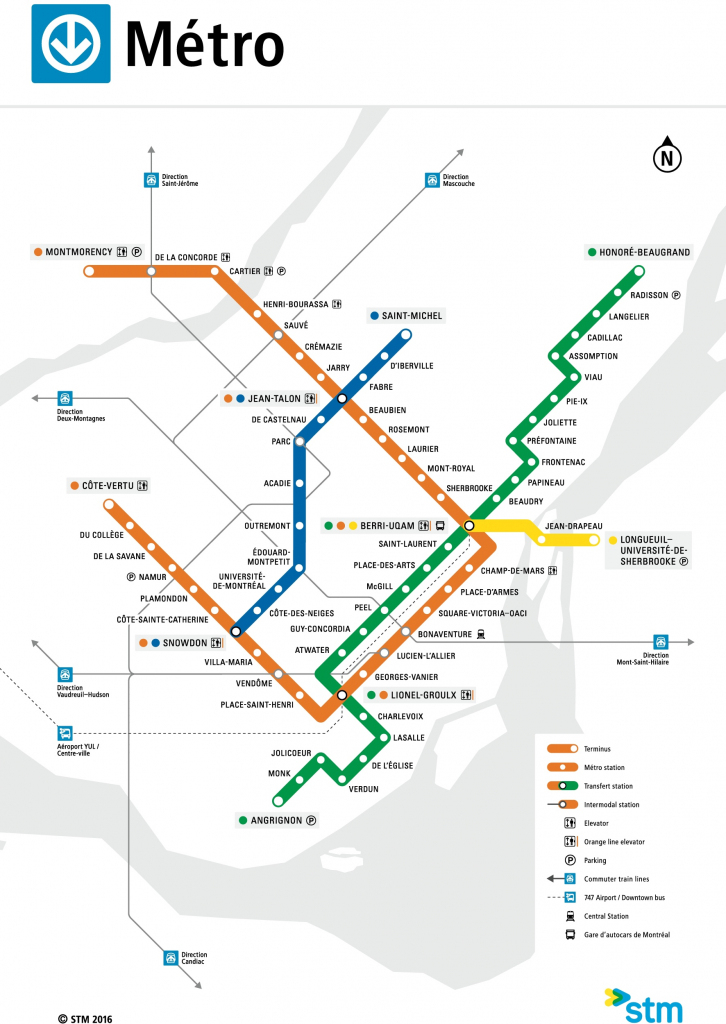 Montreal Metro Map for Montreal Metro Map Printable