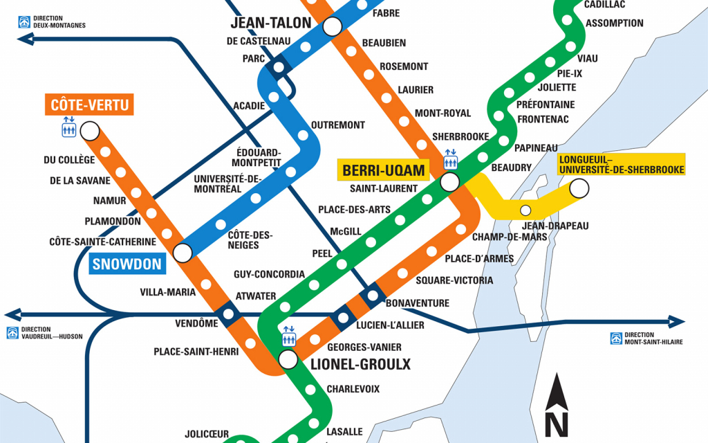 Montreal Metro Map - Go! Montreal Tourism Guide in Montreal Metro Map Printable