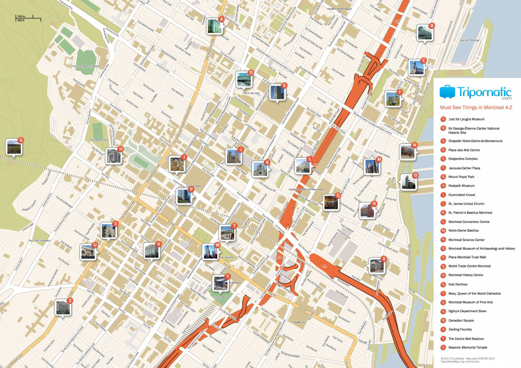 Montreal Printable Tourist Map In 2019   Free Tourist Maps pertaining to Printable Map Of Downtown Montreal
