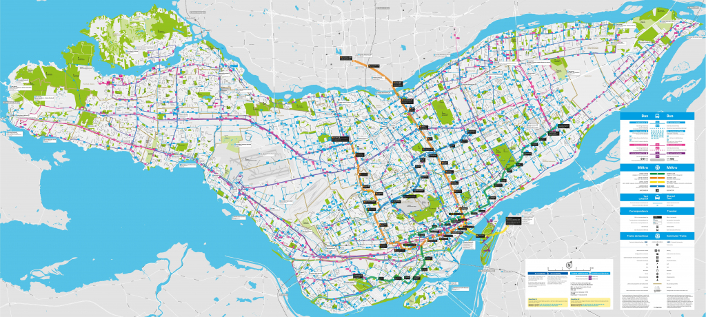 Montreal Transport Map with regard to Printable Map Of Montreal