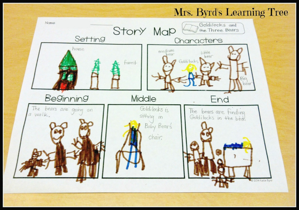 Mrs. Byrd's Learning Tree: Story Map Freebie! intended for Printable Story Map For Kindergarten