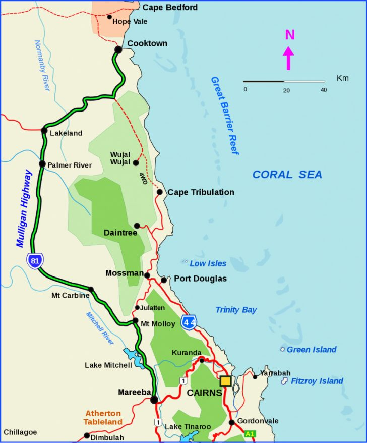 Queensland Road Maps Printable