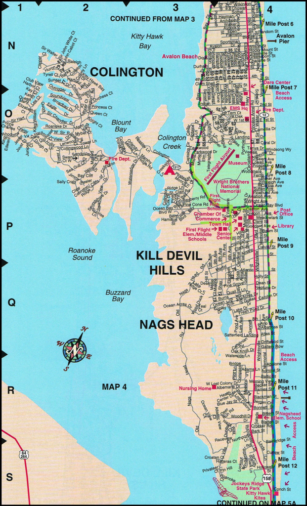 Nags Head Map   North Carolina   Nags Head Street Maps within Printable Map Of Outer Banks Nc